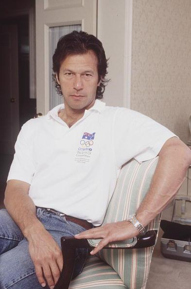 SYDNEY - FEBRUARY 01:  Former Cricketer Imran Khan in Sydney. (Photo by Patrick Riviere/Getty Images).