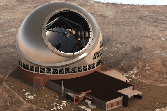 An artist's illustration of the Thirty-Meter Telescope in Hawaii. (Space.com)