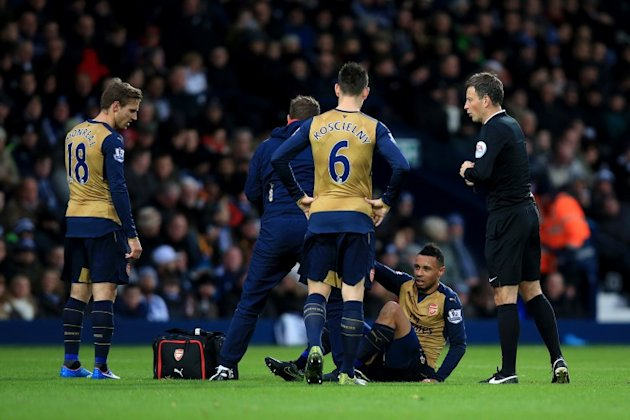 Arsenal midfielder Francis Coquelin has joined their already extensive injury list.