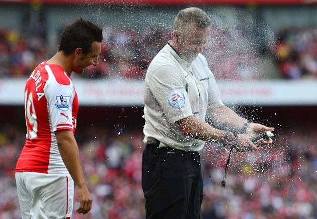 Cazorla discovers the hidden dangers of vanishing spray