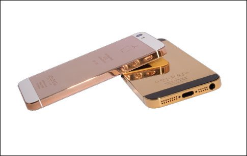 iPhone5 handsets coated in gold will go on sale in Dubai Mall on Thursday.