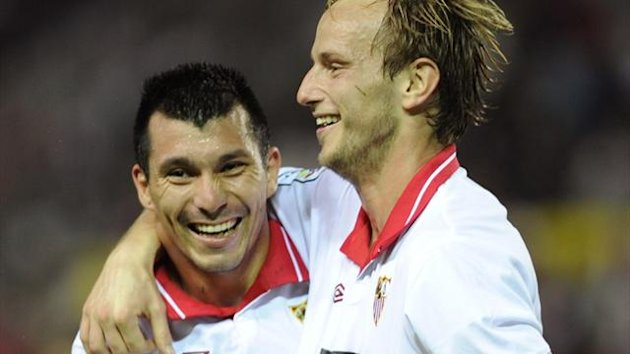 Sevilla's Gary Medel and Ivan Rakitic (AFP)