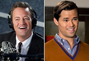 Matthew Perry, Andrew Rannells | Photo Credits: Jordin Althaus/NBC, Justin Lubin/NBC