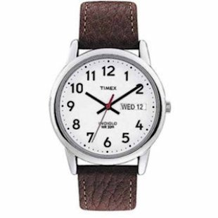 Our top pick for men's waches is the Timex Easy Reader.