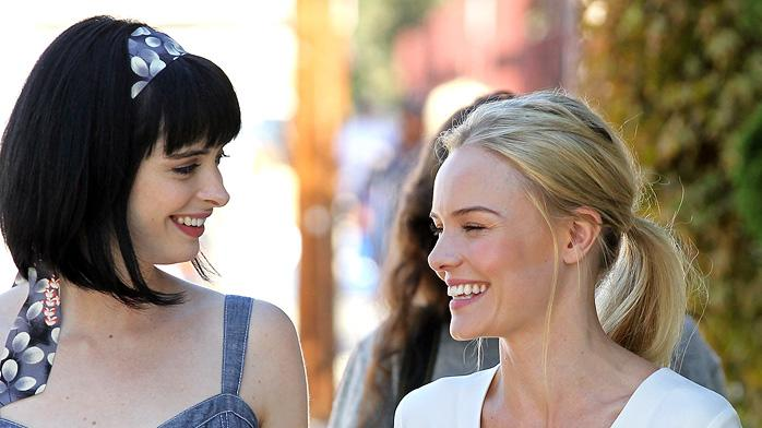 Spotted on set October 2010 Krysten Ritter Kate Bosworth
