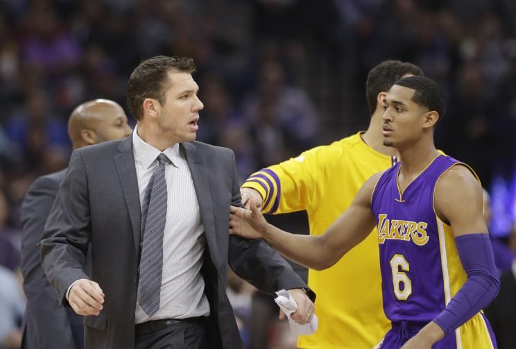 Luke Walton has had enough. (Associated Press)