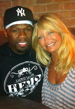 50 Cent and Goldie Hawn Have a Lunch Date!