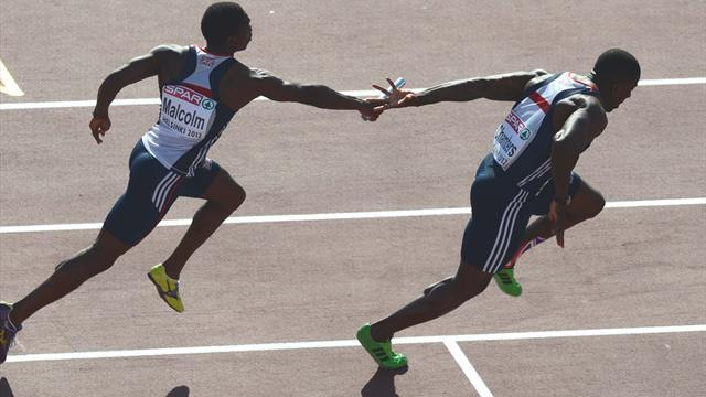 Athletics - Britain drop baton in 4x100m final