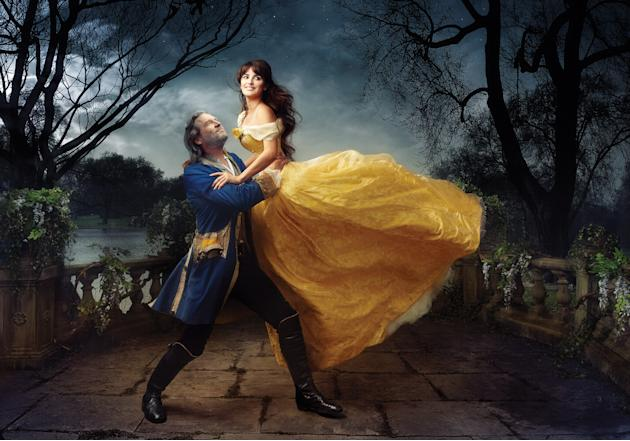 Disney Dreams: Penélope Cruz and Jeff Bridges as Beauty and the Beast
