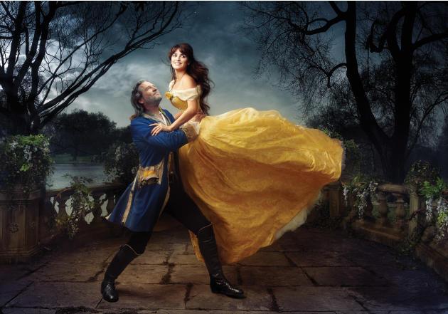 Disney Dreams: Penélope Cruz and Jeff Bridges as Beauty and the Beast