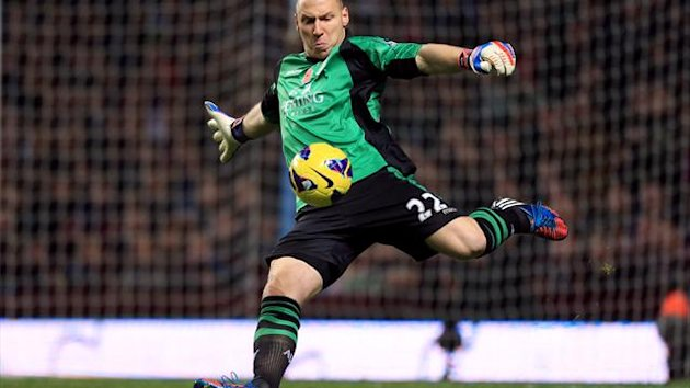 Brad Guzan has been goalkeeper when Villa conceded 17 goals in the last four league games