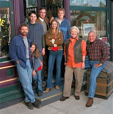 "Treat Williams as Dr. Andrew Brown, Vivien Cardone as Delia Brown, Gregory Smith as Ephram Brown, Tom Amandes as Dr. Harold Abbott, Emily Van Camp as Amy Abbott, Chris Pratt as Bright Abbott, Debra Mooney as Edna Wallace and John Beasley as Irv Wallace The WB's ""Everwood"" Everwood"