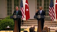 Turkish Prime Minister Recep Tayyip Erdogan visited the White House for talks with Barack Obama on Thursday. The two leaders held a press conference where they discussed the situation in Syria.