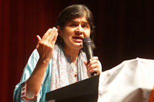 Datuk Ambiga Sreenevasan claimed the public was frustrated with the Najib administration's handling of the country's finances and 1Malaysia Development Berhad (1MDB), and will react by taking to the streets. — Picture by Choo Choy May