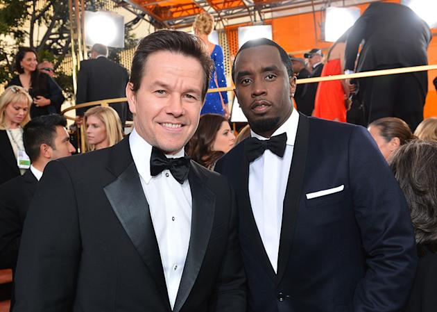 "NBC's ""70th Annual Golden Globe Awards"" - Red Carpet Arrivals: Mark Wahlberg and Sean Combs"