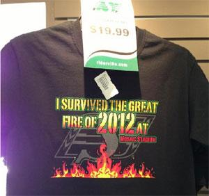 A shirt with a humourous message was displayed as a limited editon item at a Saskatchewan Roughriders store.