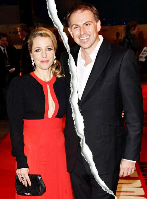 Gillian Anderson, Partner Mark Griffiths Split