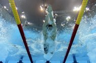American Ryan Lochte competes in the men's 200m freestyle semi-final at the London 2012 Olympics on July 29. Lochte was gunning for his second gold medal of the Olympics on Monday as Games organisers aimed to quell concerns over empty seats by making thousands of tickets available