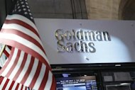 A view of the Goldman Sachs stall on the floor of the New York Stock Exchange July 16, 2013. REUTERS/Brendan McDermid/Files
