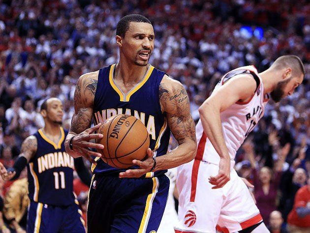 George Hill hears a ring. (Getty Images)