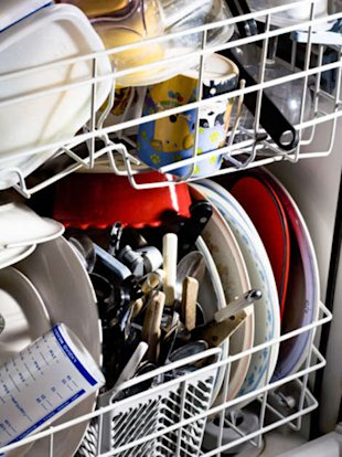 Don't load your dishwasher like this.