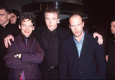 Dexter Fletcher , Guy Ritchie and Jason Statham at the premiere of Gramercy's Lock, Stock and Two Smoking Barrels