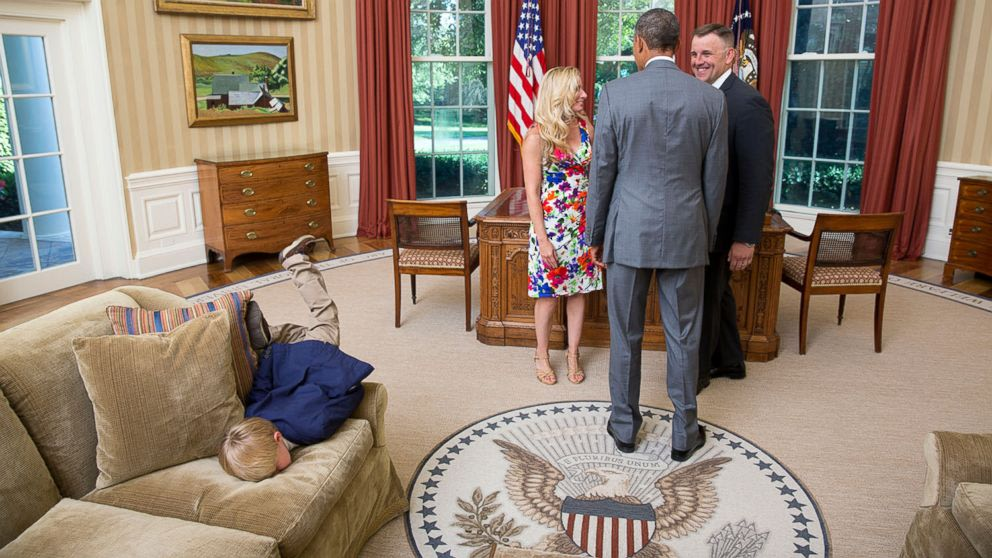 Boy Face-Plants on Oval Office Couch