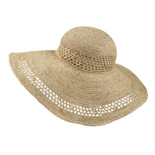 Raffia Floppy Hat Fat Face: Beach