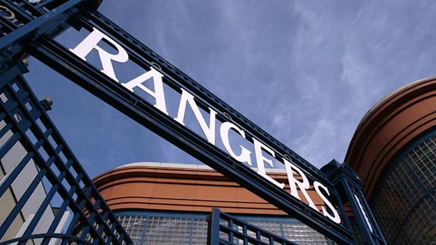 FOOTBALL Rangers logo gates Ibrox