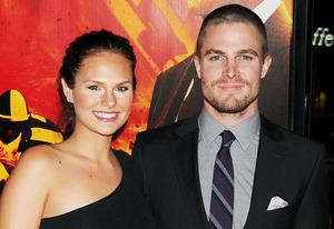 Cassandra Jean and Stephen Amell | Photo Credits: Jeffrey Mayer/WireImage