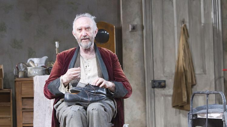 "In this undated image released by the Brooklyn Academy of Music, actor Jonathan Pryce is shown during a performance of ""The Caretaker,"" in New York. (AP Photo/BAM, Shane Reid)"