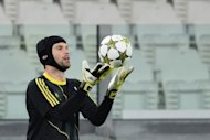 Chelsea goalkeeper Petr Cech during a team training session on November 19. Lying fourth, five points behind leaders Manchester United, Chelsea can ill afford to drop points and Cech admits they cannot afford a bedding in period