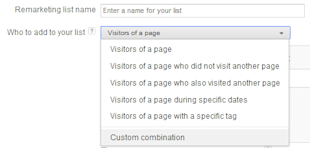 How to Set Up a Remarketing Campaign in Adwords image Remarketing Custom Combinations