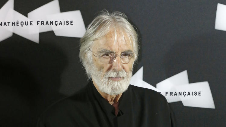 "FILE - This Oct. 15, 2012 file photo shows Austrian director Michael Haneke at the pre-premier of the movie ""Amour""  in Paris. Haneke was nominated  for an Academy Award for best director on Thursday, Jan. 10, 2013, for ""Amour.""  The 85th Academy Awards will air live on Sunday, Feb. 24, 2013 on ABC.  (AP Photo/Michel Euler, file)"