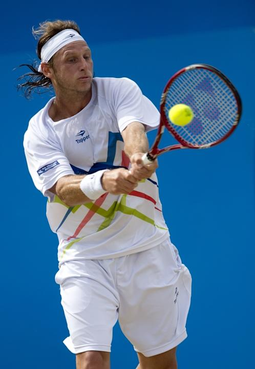Argentina's David Nalbandian Hits AFP/Getty Images