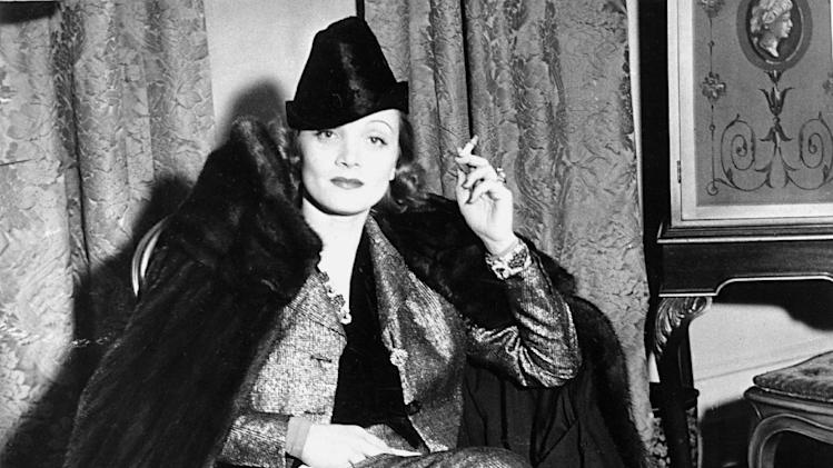 FILE - In this January 1938 file photo, actress, Marlene Dietrich, is shown at an unknown location. (AP Photo, File)