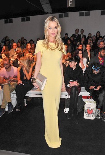 London Fashion Week AW13 FROW Laura Whitmore Maria Grachvogel © Getty