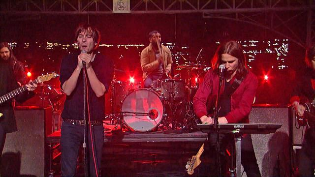 "David Letterman - Phoenix Performs ""Trying To Be Cool/Drakkar Noir (outro)"""