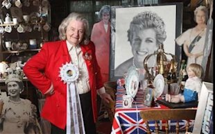Margaret Tyler's been called the queen of royal memorabilia. (Martin Pope/ The Telegraph)
