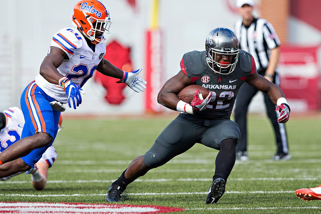 Rawleigh Williams rushed for 148 yards and a pair of touchdowns in Saturday's win against No. 10 Florida. (Getty)