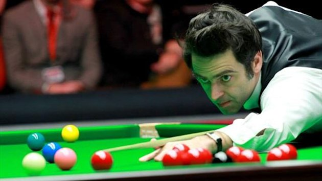 Ronnie O'Sullivan during the Masters final on 19th January 2014 (Tai Chengzhe)