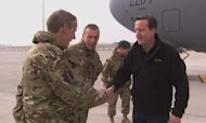 David Cameron In Christmas Afghanistan Visit