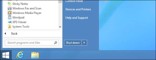 Start Button & Boot To Desktop Returns In Windows 8.1 image win8start