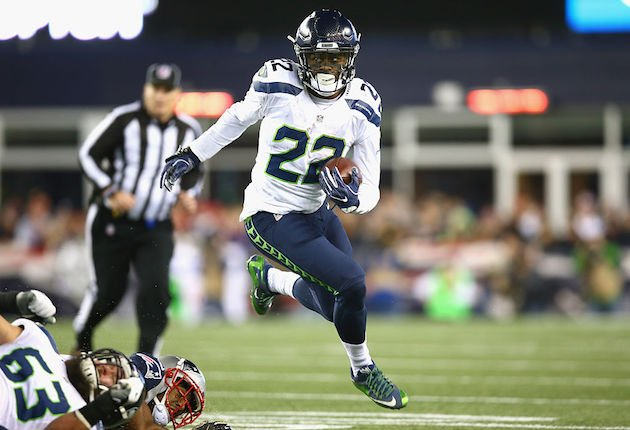 C.J. Prosise was on point against New England. Is he the lead horse in Seattle? (Getty)
