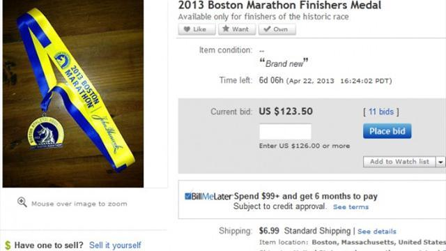 Athletics - Boston Marathon medals being sold on eBay