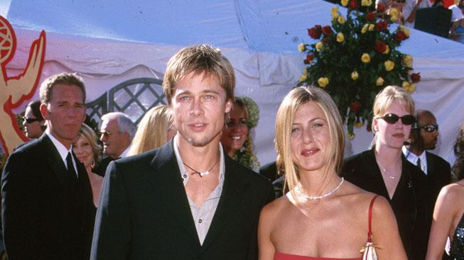 Brad Pitt and Jennifer Aniston at The 52nd Annual Primetime Emmy Awards.