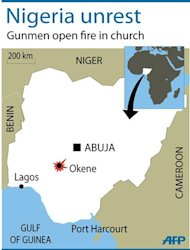 Gunmen have opened fire on an evangelical church during a service in central Nigeria, killing at least 19 people in the latest such attack in the country, the military said