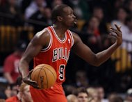 File photo shows Luol Deng playing for the Chicago Bulls in Boston in January. Mike Krzyzewski, coach of the United States Olympic basketball team, expects a tough challenge from his former player Deng and hosts Great Britain as his side continues its preparation for London 2012