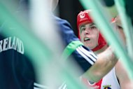 Katie Taylor of Ireland prepares for her lightweight semifinal boxing match against Mavzuna Chorieva at the Women's World Boxing Championships in Qinhuangdao on May 18, 2012. Taylor will battle for a historic Olympic gold as the world number one after she claimed her fourth consecutive lightweight title