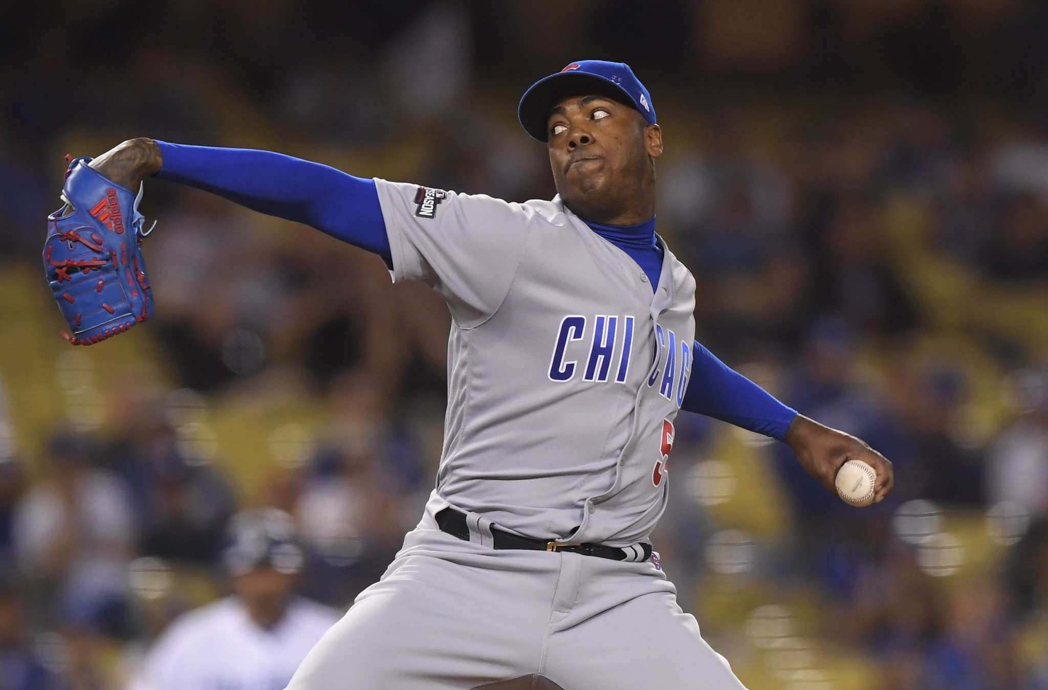 Is Aroldis Chapman worth $100 million? He seems to think so. (AP)